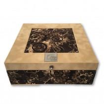 Tea box sand batik brown