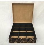 The Dutch Tea Box Tea box sand batik brown 9 compartments
