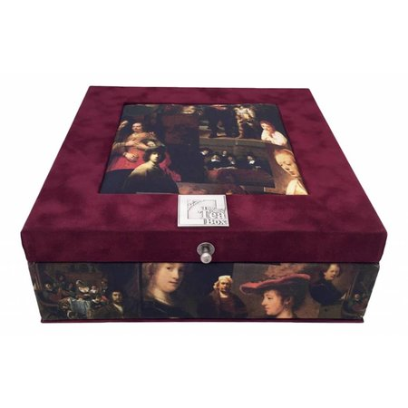 The Dutch Tea Box Tea box with paintings from Dutch Masters like Rembrandt included tea
