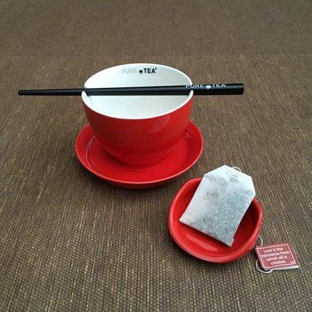 PureTea Pure Tea teacup red