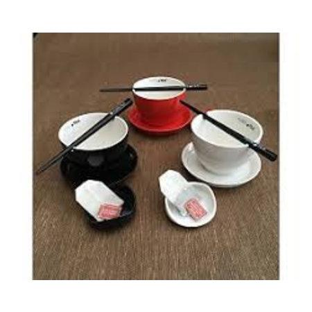 PureTea Pure Tea teacup black 4 parts