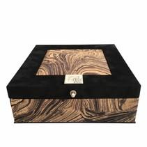 Tea box brown black sand dunes