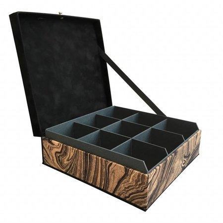 The Dutch Tea Box Tea box sand dunes black brown 9 compartments