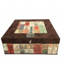 Tea box brown traveltickets