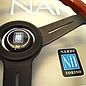 "Nardi ""Classic"" wood + black spokes 33 cms. steering wheel"