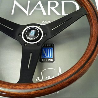 "Nardi ""Deep Corn"" wood + black spokes 35 cms. steering wheel"