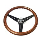 "Steering wheel Nardi ""Deep Corn"" wood + black spokes 35 cms."
