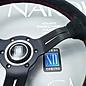 """Nardi """"Deep Corn"""" black suede + black spokes 33 cms. steering wheel"""