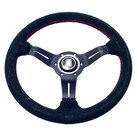 "Steering wheel Nardi ""Deep Corn"" black suede + black spokes 33 cms."