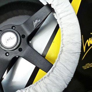 "Luisi ""Stratos"" wood black spokes 36 cms steering wheel"