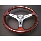 "Steering wheel Luisi ""Mugello Classico"" wood polished spokes 37 cms"
