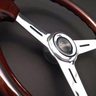 "Luisi ""Mugello Classico"" wood polished spokes 37 cms steering wheel"