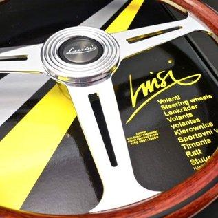 "Luisi ""Montecarlo"" wood polished spokes 39 cms steering wheel"