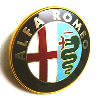 Alfa Romeo Spider 1983-1993 Emblem front and rear