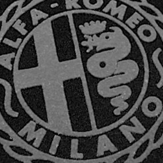 Alfa Romeo Giulietta + Giulia Spider 1955-1965 Floor mat set black-grey Alfa Milano logo