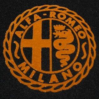 Alfa Romeo Giulietta + Giulia Spider 1955-1965 Floor mat set black-gold Alfa Milano logo
