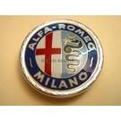 Emblème avant AR Milano en plastique verni, 55 mms. Alfa Romeo Spider 1966-1972