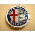 Emblème avant AR Milano en plastique verni, 55 mms. Alfa Romeo Giulia Bertone GT GTJ GTV 1963-1972