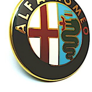 Alfa Romeo 147 2004-2010 Emblème arrière