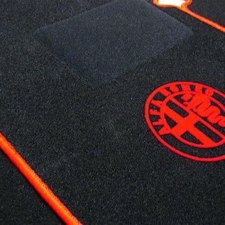 Alfa Romeo Giulia Sedan 1970-1976 Floor mat set black-red logo + trim