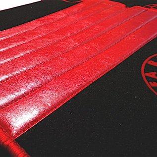 Alfa Romeo Giulia Berline 1970-1976 Tapis de sol premium velours noir-logo + contours rouge
