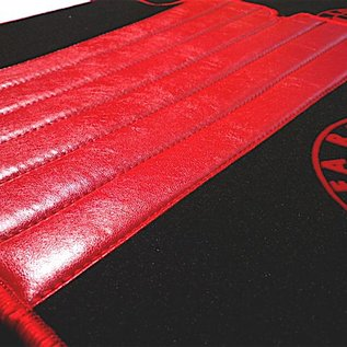 Alfa Romeo Giulia Sedan 1970-1976 Floor mat set premium velours black-red logo + trim