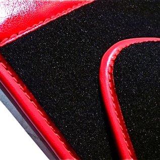 Alfa Romeo Bertone GTJ GTV 1970-1976 Floor mat set premiumveloursblack-red logo + semi-leather trim
