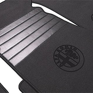 Alfa Romeo Bertone GTJ GTV 1970-1976 Floor mat set premiumveloursdark grey - black logo + trim
