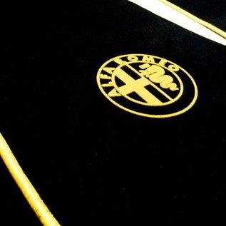 Alfa Romeo Bertone GTJ GTV 1970-1976 Floor mat set veloursblack - yellow logo + trim