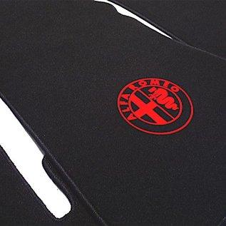Alfa Romeo Bertone GTJ GTV 1970-1976 Floor mat setveloursblack - red logo