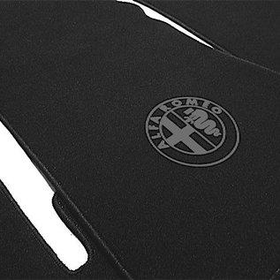 Alfa Romeo Bertone GTJ GTV 1970-1976 Floor mat setveloursblack - dark grey logo