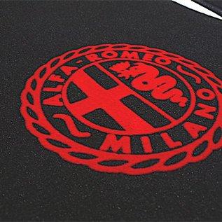 Alfa Romeo Giulia Bertone GT GTJ GTV 1963-1969 Floor mat setveloursblack - red Alfa Milano logo