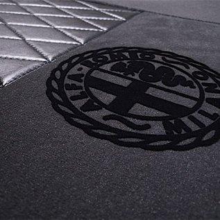 Alfa Romeo Spider Duetto 1966-1969 Tapis de sol premium veloursgris foncé - logo Alfa Milano + contours noir