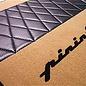 Floor mat set premiumvelours medium tan - black Pininfarina script + trimAlfa Romeo Spider 1983-1993