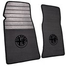 Floor mat set premium velours dark grey - black logo + trim Alfa Romeo Spider 1969-1982