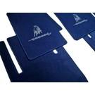 Tapis de sol velours bleu foncé - logo grisLamborghini Espada