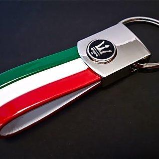 Maserati Key holder semi-leather tricolore