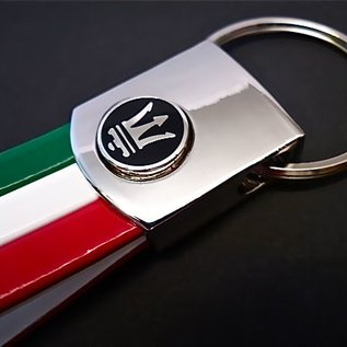Maserati Porte-clés similicuir tricolore