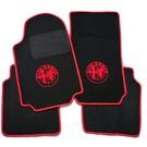 Tapis de sol noir-logo + contours rouge Alfa Romeo 75