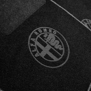 Alfa Romeo 75 Floor mat set black-dark grey logo + trim