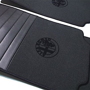 Alfa Romeo 75 Floor mat set premium velours dark grey-black 4 x  logo + trim