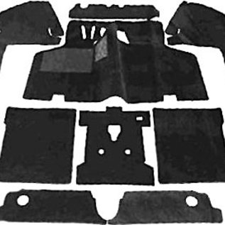 VW Type 3 1600 Variant 1969-1973 Carpet set interior velours black