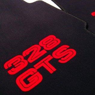 Ferrari 328 GTS Floor mat setveloursblack - red script