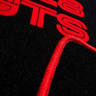 Ferrari 328 GTS Floor mat setveloursblack - red script + trim