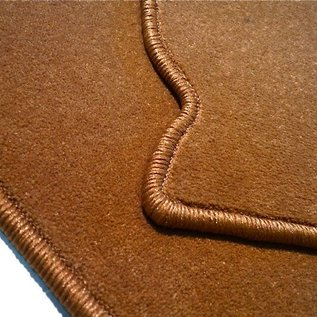 VW Type 14 Karmann Ghia Coupe Carpet set interior velours cognac