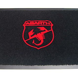 Abarth Nuova Entry mat 60 x 90 cms black + red