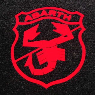 Abarth Classic Entry mat 60 x 90 cms black + red