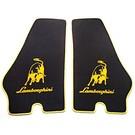 Floor mat set velours black - yellow Lamborghini Countach LP500S + 5000QV