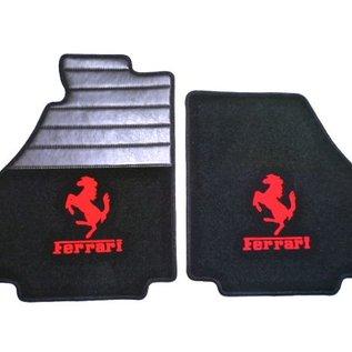 Ferrari 360 Floor mat set premium velours black - red logo