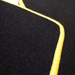 Lamborghini Diablo Floor mat set velours black - yellow
